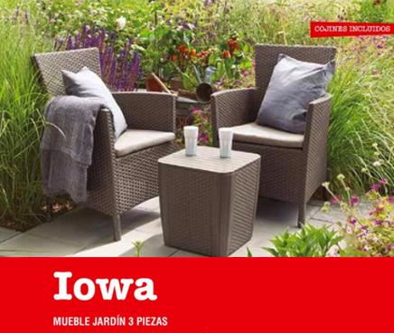 mueble jardin 3 piezas