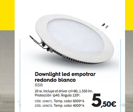 Feinpra lampara led empotrable